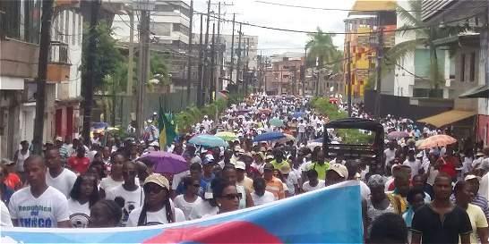 Después de marchar, Comité del Chocó analizará propuestas del Gobierno
