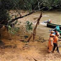 Desbordamiento dejó cuatro personas desaparecidas en Antioquia