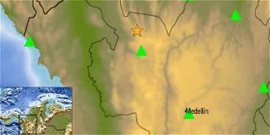 Cuatro sismos se han registrado en Antioquia en las últimas horas
