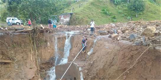 Avalancha dejó dos desaparecidos en San Carlos (Antioquia)