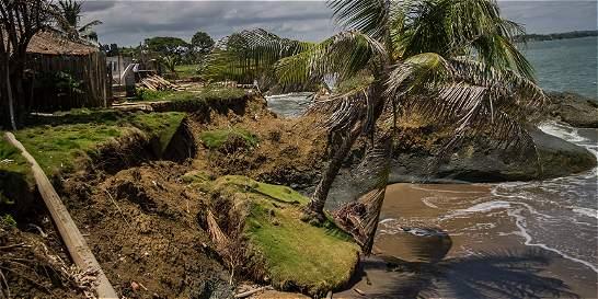 La erosión se come el litoral del golfo de Urabá