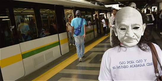 Semana de noviolencia se celebró en el metro