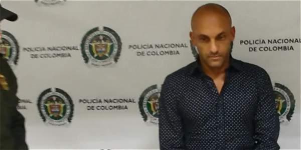 El momento de la captura de Diego León Osorio por tráfico de droga