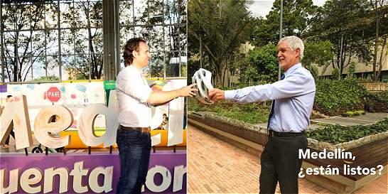 Con humor calientan duelo de bicicletas entre Medellín y Bogotá