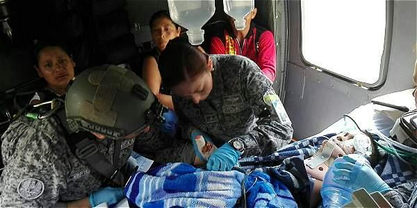 Niños agredidos a machete en Medellín