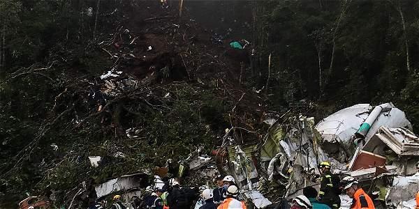 Zona del accidente aéreo en LA Unión, Antioquia.