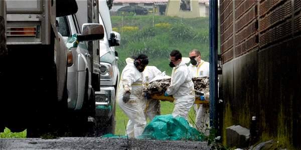 Los cuerpos fueron llevados en la tarde de ayer a la sede de Medicina Legal en Medellín.