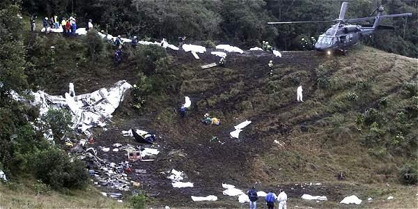 El accidente aéreo en el que falleció casi todo el equipo del Chapecoense ocurrió el pasado lunes en la noche.