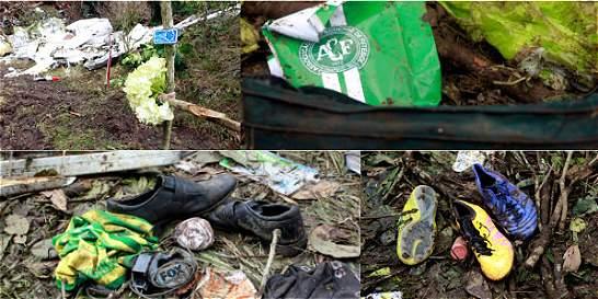 Fotos: lo que quedó en el lugar de la tragedia del Chapecoense