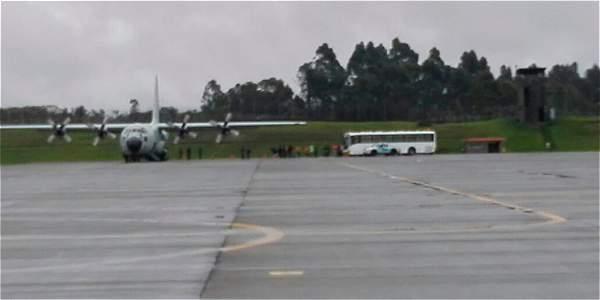 Se espera que en el transcurso del día lleguen otras dos aeronaves