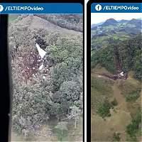 En video: así quedó el lugar del accidente del avión del Chapecoense