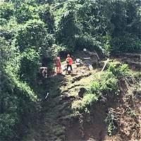 Realizaron derrumbe controlado en vía Medellín-Bogotá