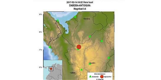Sismo de magnitud 3,6 en Dabeiba, Antioquia