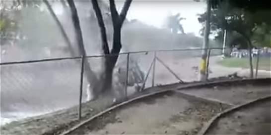 Aparatoso accidente de piloto de karts en Medellín