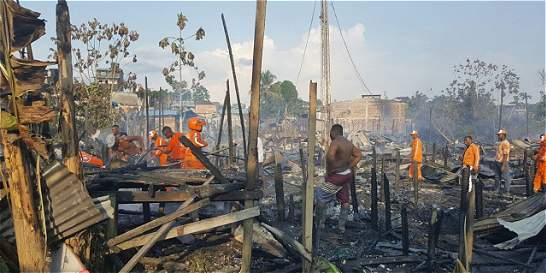 Incendio en Quibdó, Chocó, dejó 242 personas damnificadas