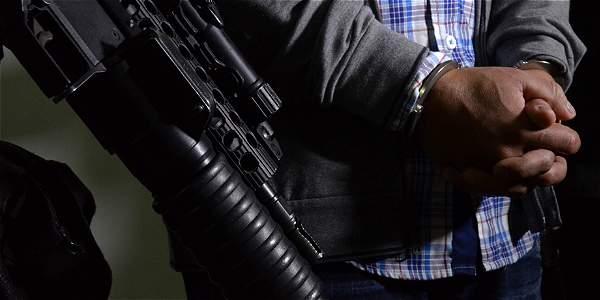 La captura se dio en vía pública del sector La Loma de Los Bernal de Medellín.