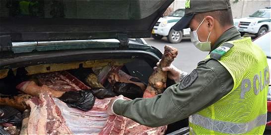 Así transportaban dos toneladas de carne de res venezolana contaminada