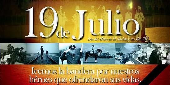 Este sábado 19 de julio, día para compartir el saludo militar