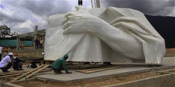 En Santander se construye el Cristo que desbancará al Corcovado