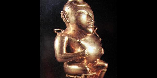 Esta es una réplica de una de las piezas que reposa en el museo de América en Madrid.