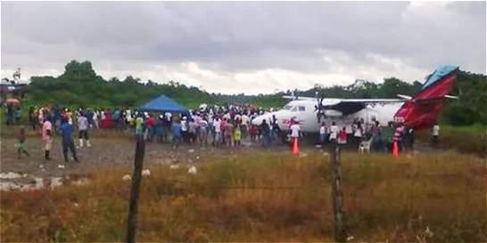 Avión fue retenido en Timbiquí (Caucá), en medio de paro cívico