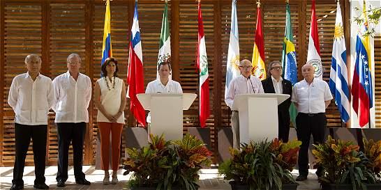 Cancilleres de Mercosur y Alianza del Pacífico se reúnen en Cartagena
