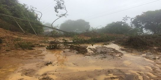Derrumbes bloquean vía Bucaramanga-Barrancabermeja