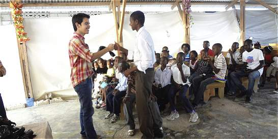 Colectivo bumangués ayuda a los haitianos