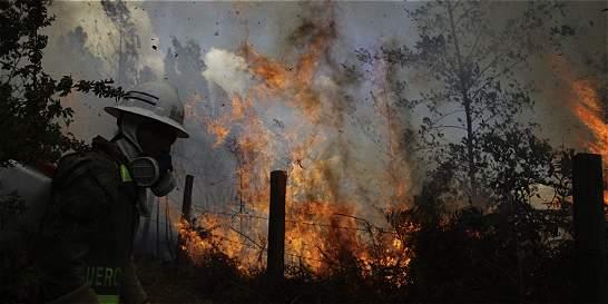 Incendio arrasa con 30 hectáreas de bosque en Paipa (Boyacá)