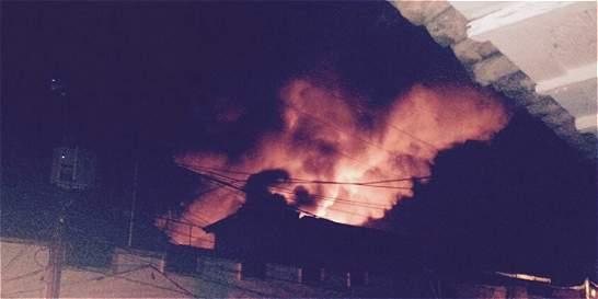 Incendio acabó con almacén en Santander de Quilichao
