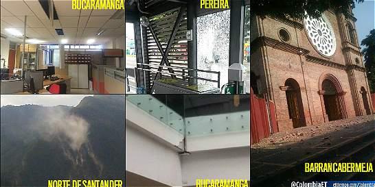 Los videos más impactantes del temblor en Colombia
