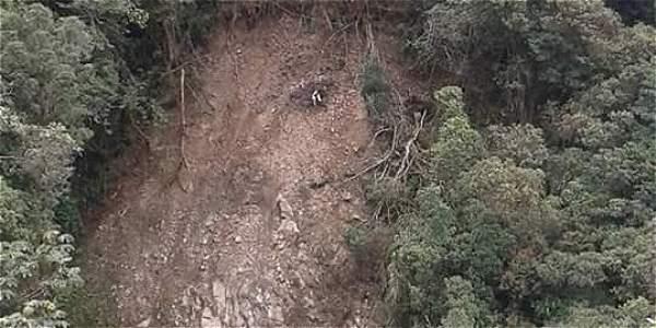 El derrumbe sucedió en el municipio de San Francisco, Putumayo.