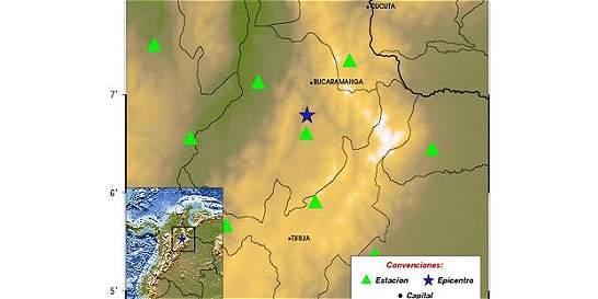 Sismo de magnitud 5,2 se registró en Los Santos, Santander