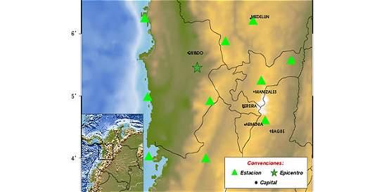 Sismo de magnitud 4,3 en Chocó