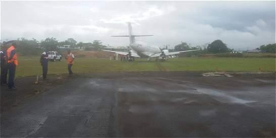 Avión con 32 ocupantes se salió de la pista en el aeropuerto de Quibdó