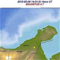 Sismo de magnitud 4,7 en la escala de Richter en La Guajira