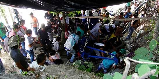 Encuentran los cuerpos de cuatro mineros atrapados en Riosucio