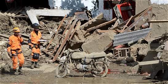En video, el desbordamiento de la quebrada en Salgar