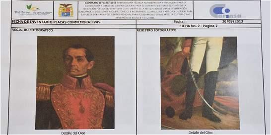 Policía ofrece 10 millones por paradero de pintura de Simón Bolívar