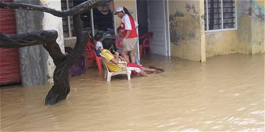 Dos horas de intensas lluvias inundan el 90 por ciento de Montería