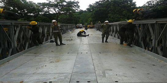 Con puente militar habilitan ruta de La Soberanía en oriente del país