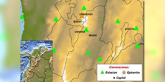 Reportan temblor en la región del Eje Cafetero