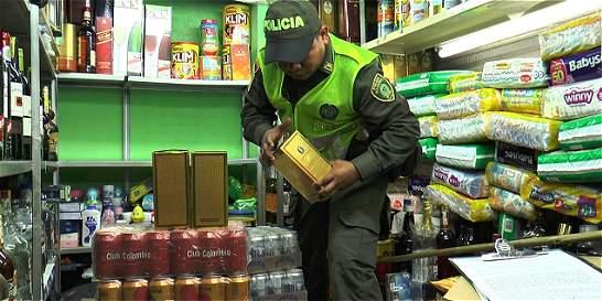 Descubren licor adulterado en operativo de contrabando en Bucaramanga