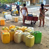 Agua con pico y placa en Taganga
