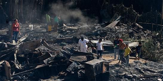 Incendio dejó 186 personas damnificadas en Calarcá