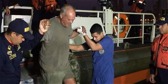 En Cartagena, rescatan a extranjero que estuvo 24 horas a la deriva