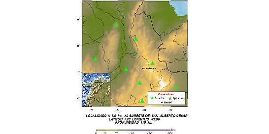 No hay afectaciones por sismo de magnitud 5,4 que sacudió al país