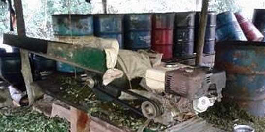 Ejército desmanteló diez laboratorios para procesar pasta base de coca
