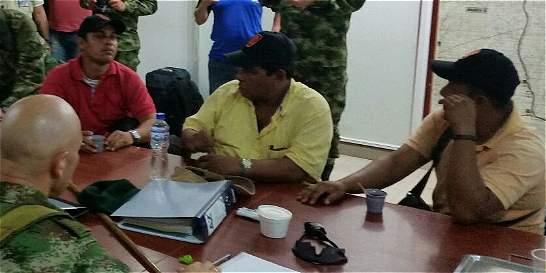 Ejército rescató a dos ingenieros y un obrero secuestrados por el Eln