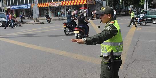 Por daños en semáforos, policía atiende caos en movilidad de Cúcuta